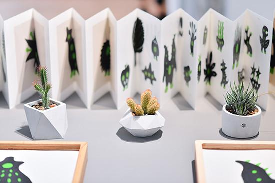 黑青展覽桌上型植物佈置-1