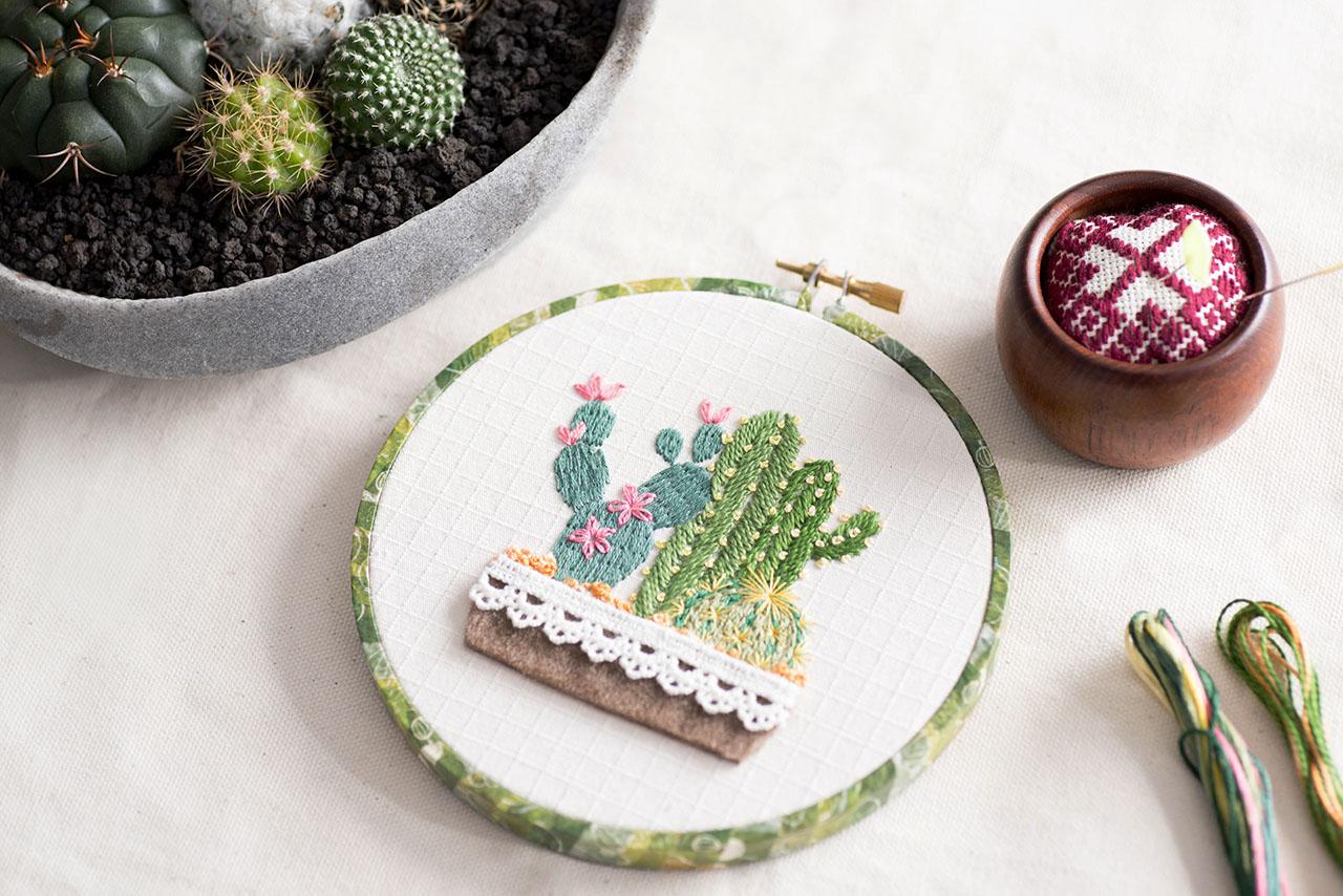 植物風格刺繡課