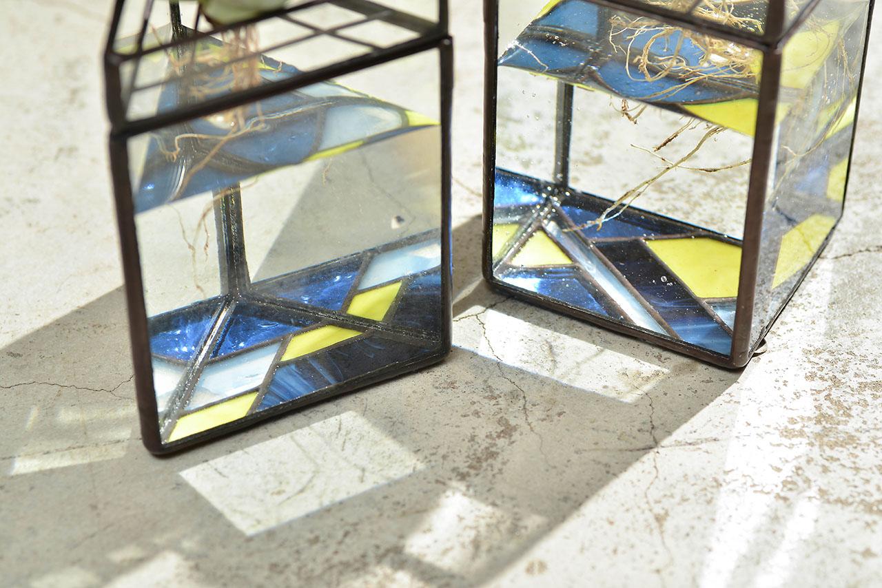 彩色玻璃盆器