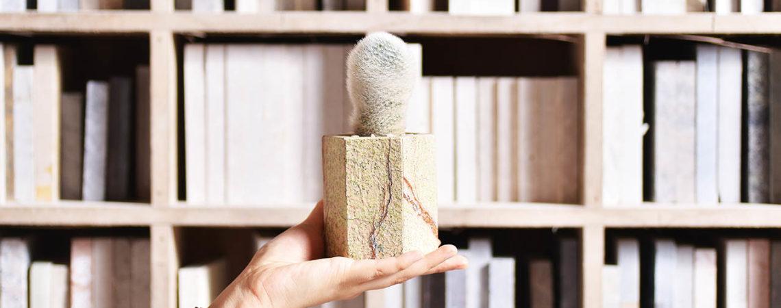 大理石花器與多肉植物的結合 大理石花盆製作 36