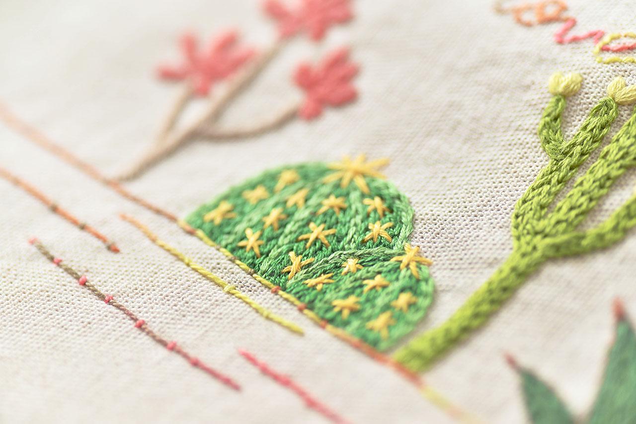 多肉植物刺繡課