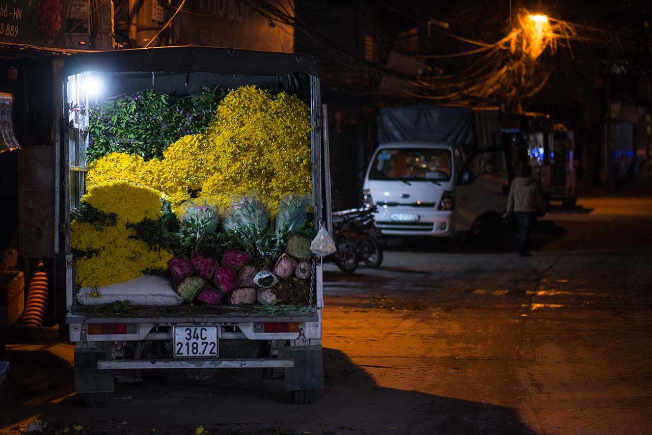 【河內凌晨景點】越南河內廣巴花市 3