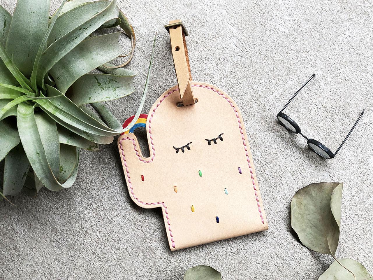 [ 皮件課程 ] 仙人掌皮革卡套 3