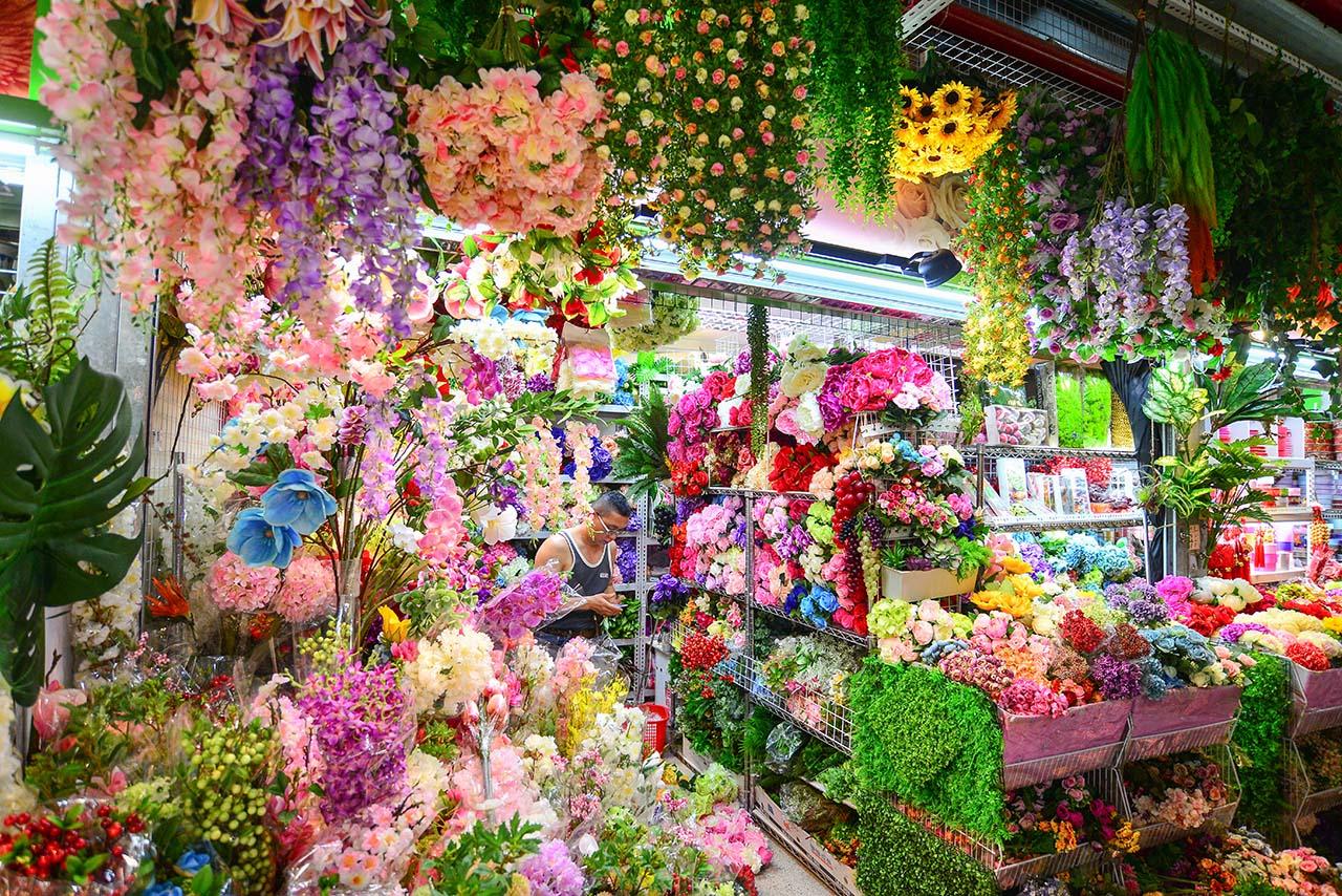 內湖花市買人造花卉花店