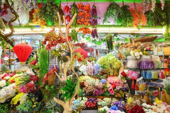 內湖花市 人造花店