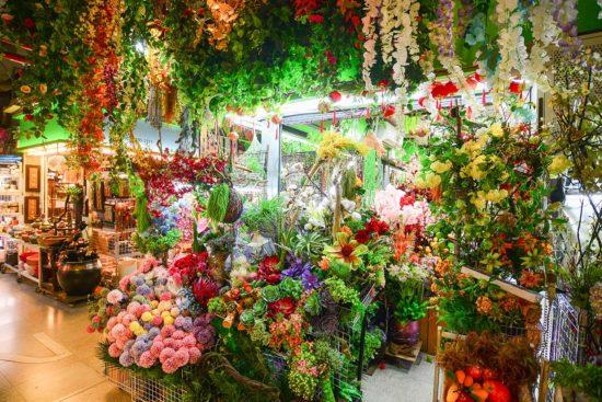 內湖花市買人造花卉
