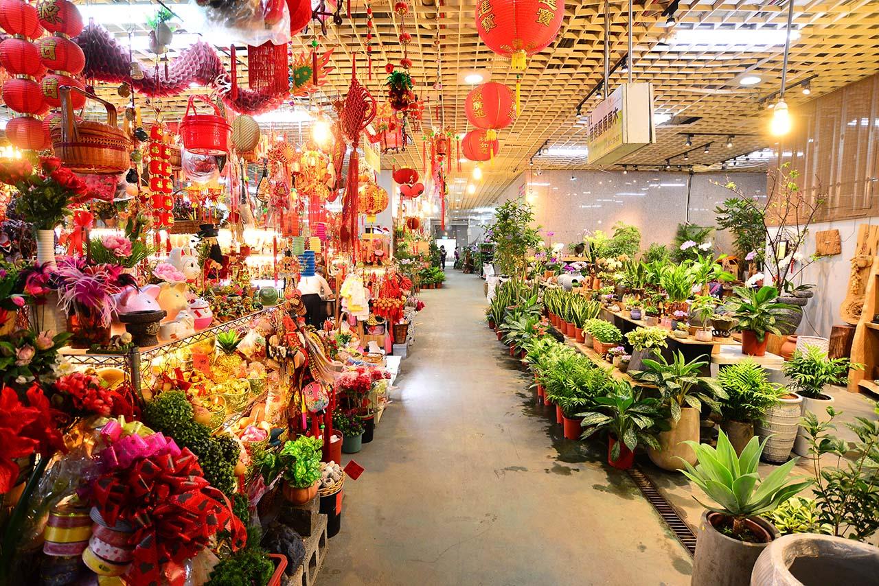 台北花木批發市場買人造花卉