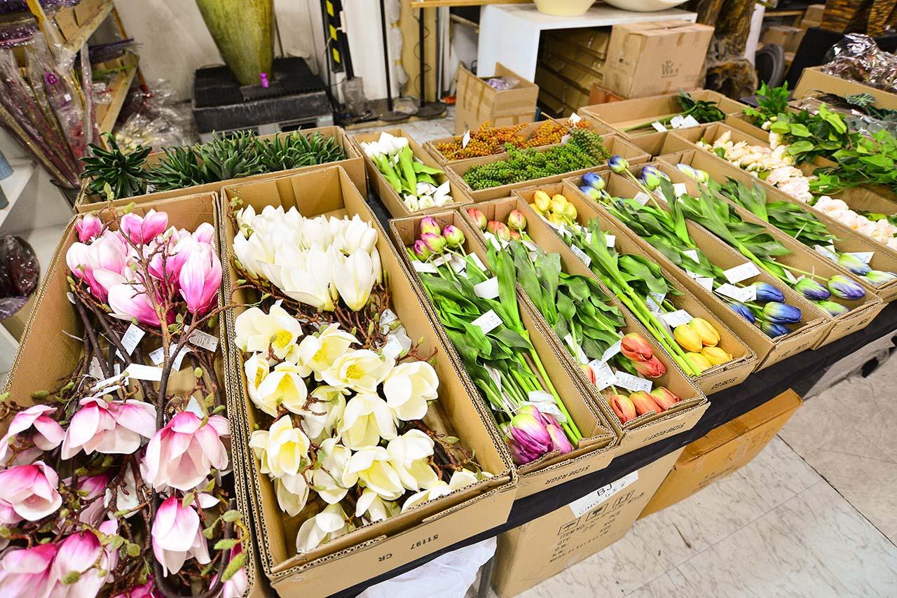 台北花木批發市場 人造花