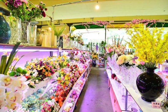 建國花市買人造花卉店