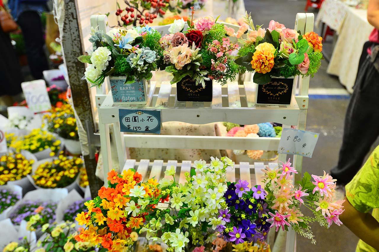台北 建國花市人造花