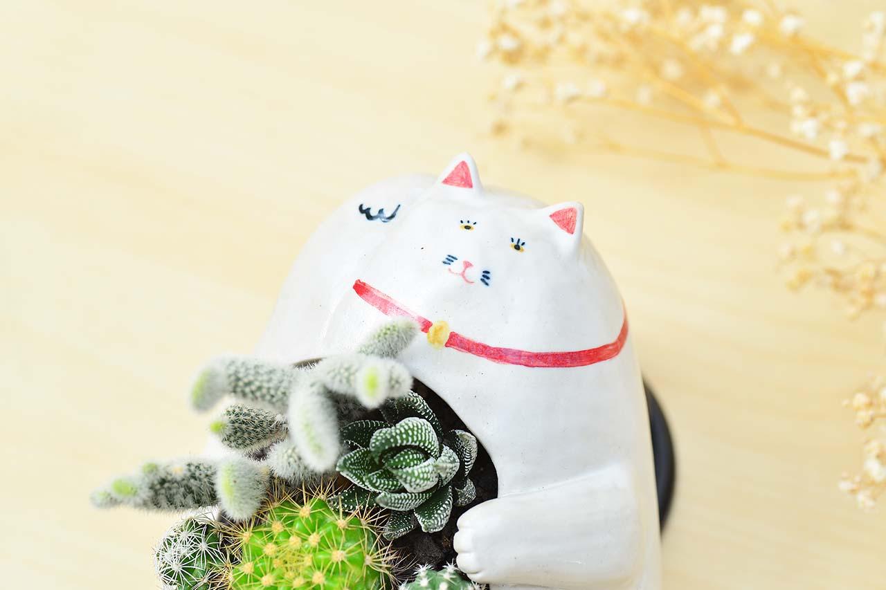 日式傳統風格招財貓造型