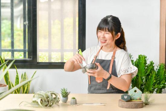 樂樂君開心餅乾 0612 多肉植物翻糖課@台北有肉 老師照02