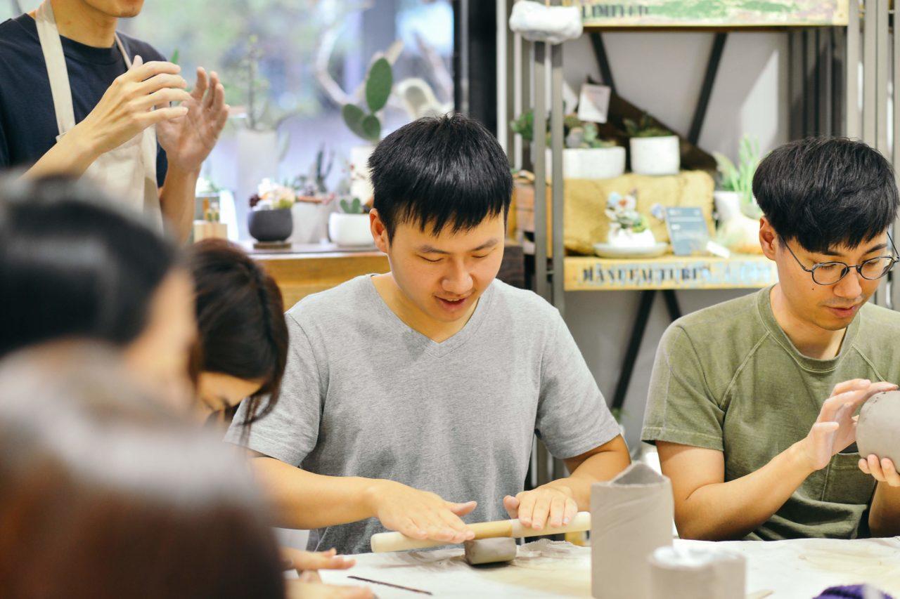 [ 盆器製作 ] 手捏陶器 & 多肉組盆 LINE 企業包班@有肉 31