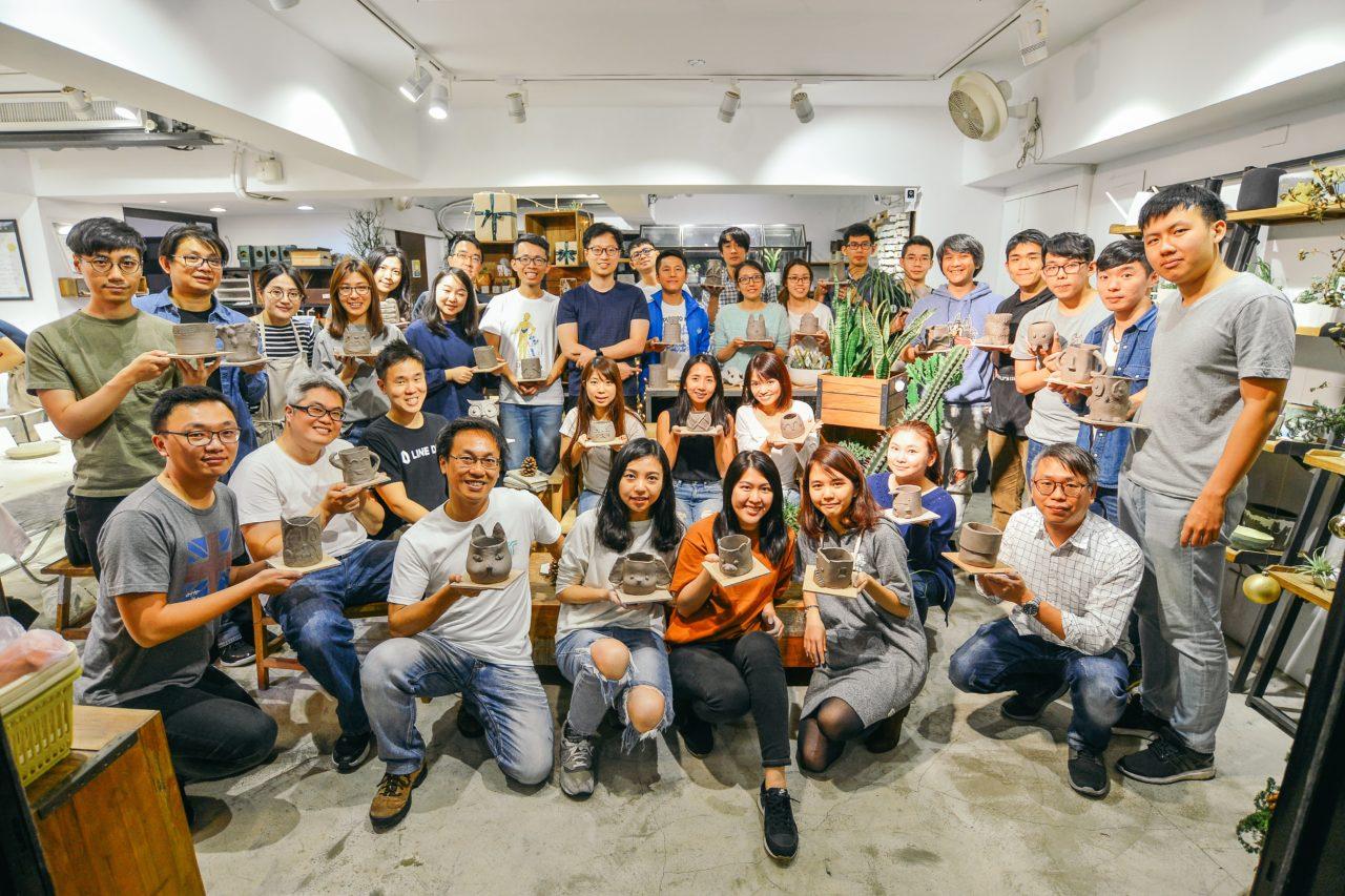 [ 盆器製作 ] 手捏陶器 & 多肉組盆 LINE 企業包班@有肉 82