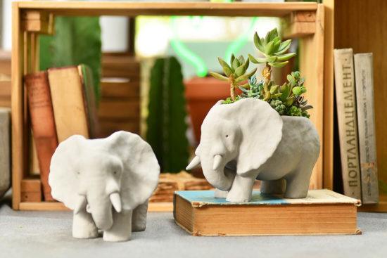 elephant pots