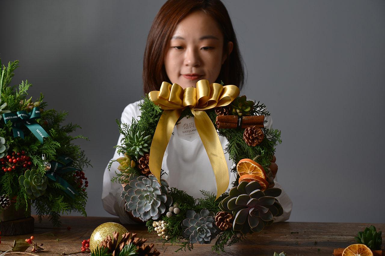 [ 聖誕活動 ] 多肉花圈派對