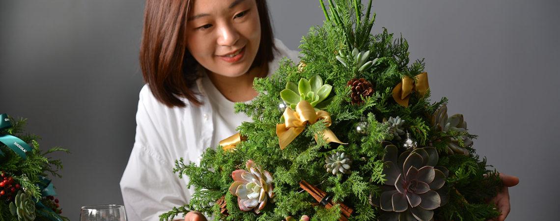 多肉聖誕樹2019聖誕手作課2