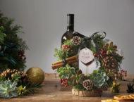 9 種多肉花圈的風格設計 聖誕多肉花圈1
