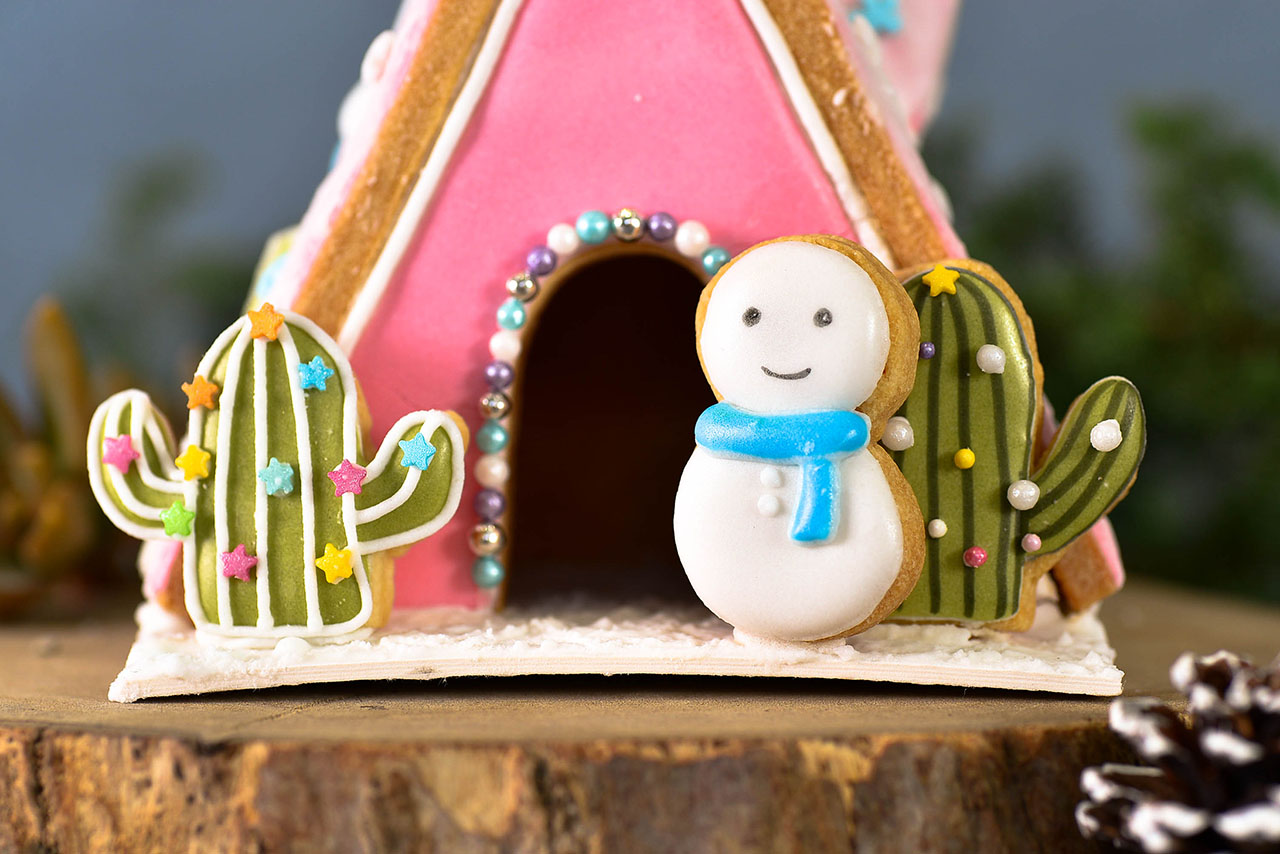 雪人薑餅屋與仙人掌