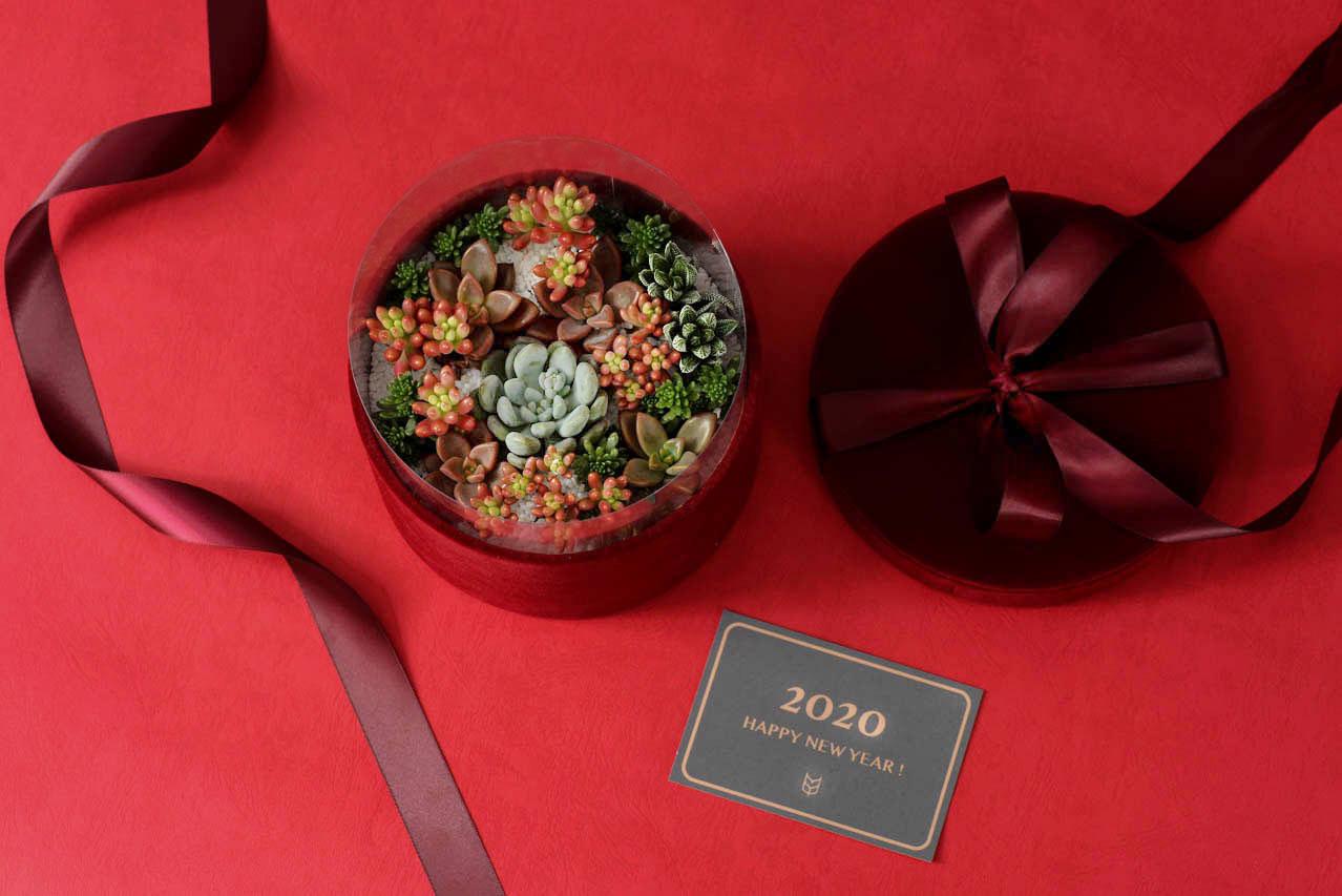 客製化多肉盆栽禮贈品 - 多肉花禮盒案例 1113 春節花禮盒 138