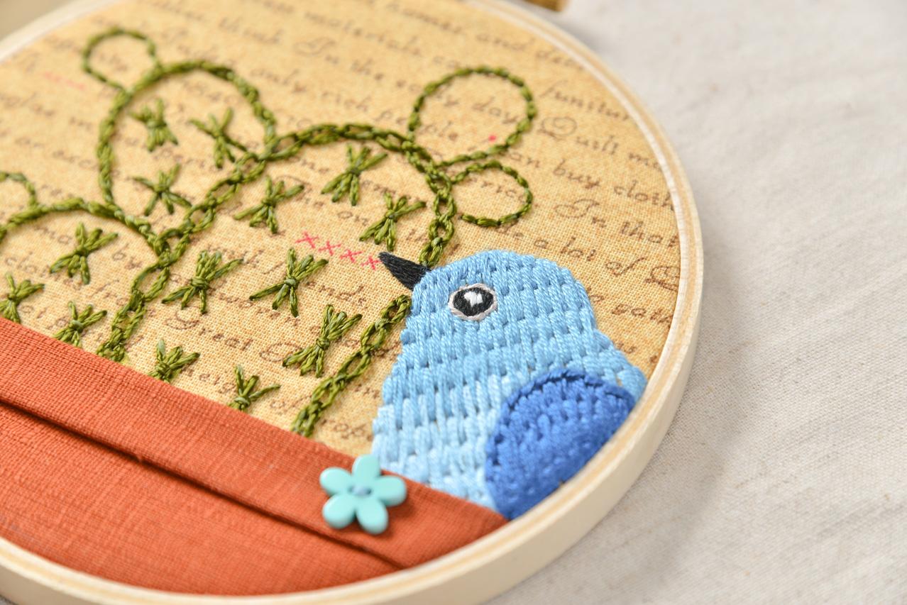 藍鳥刺繡課程
