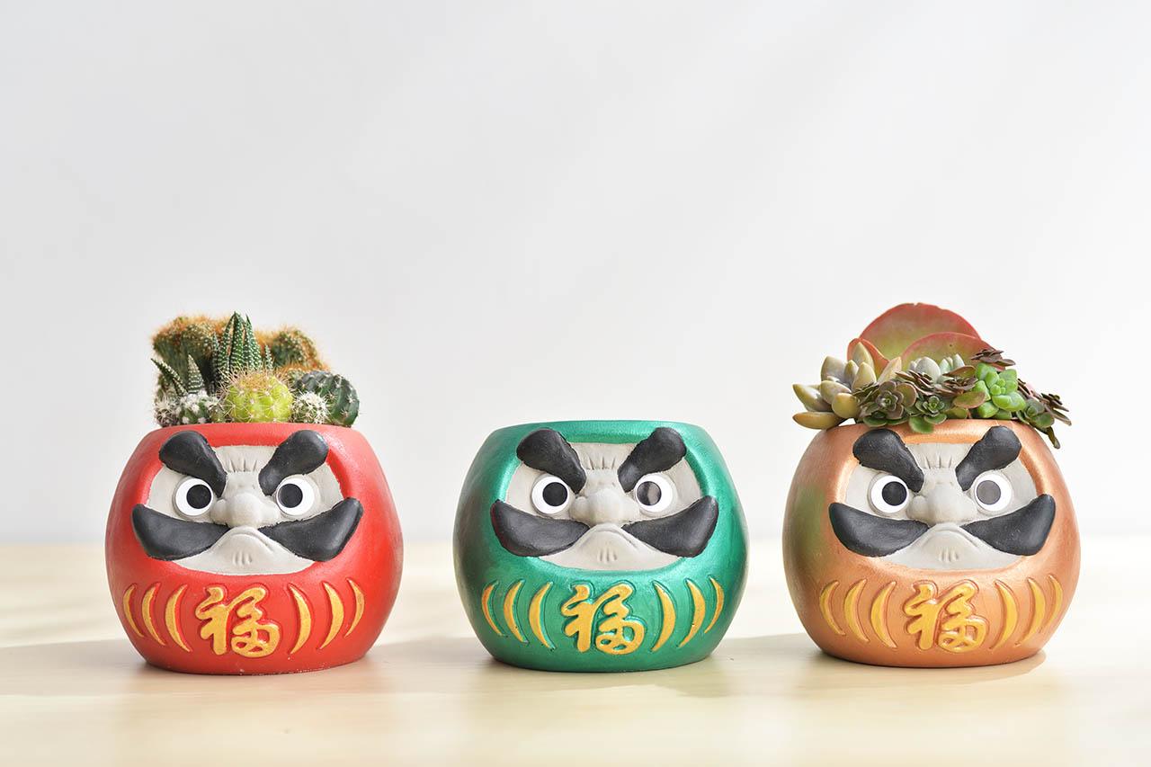 三色福氣盆栽