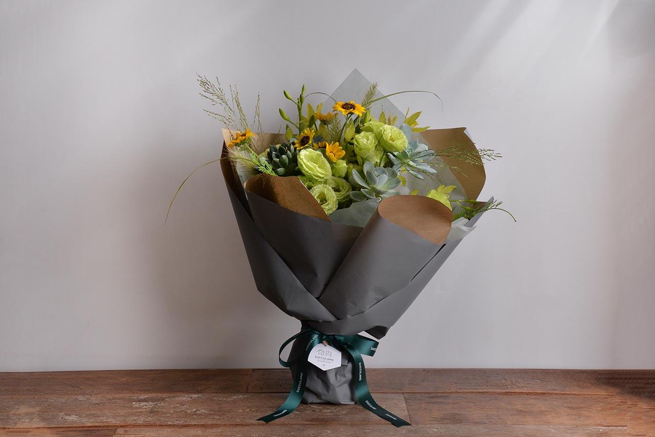 婚色包裝花束