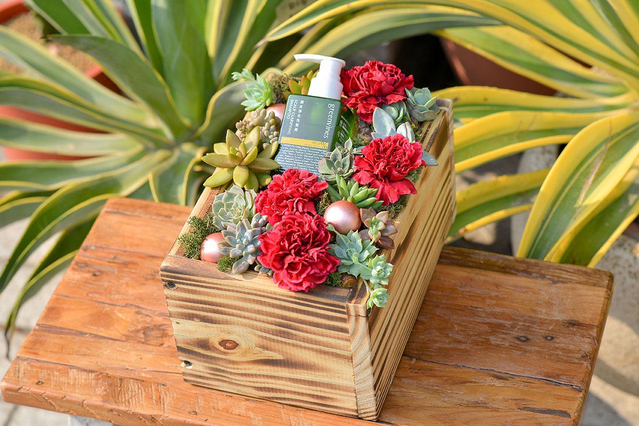 客製化多肉盆栽禮贈品 - 多肉花禮盒案例 不朽之恩2