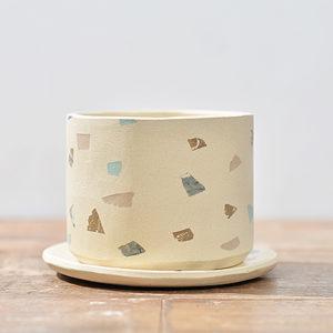 3寸台灣磨石子陶盆