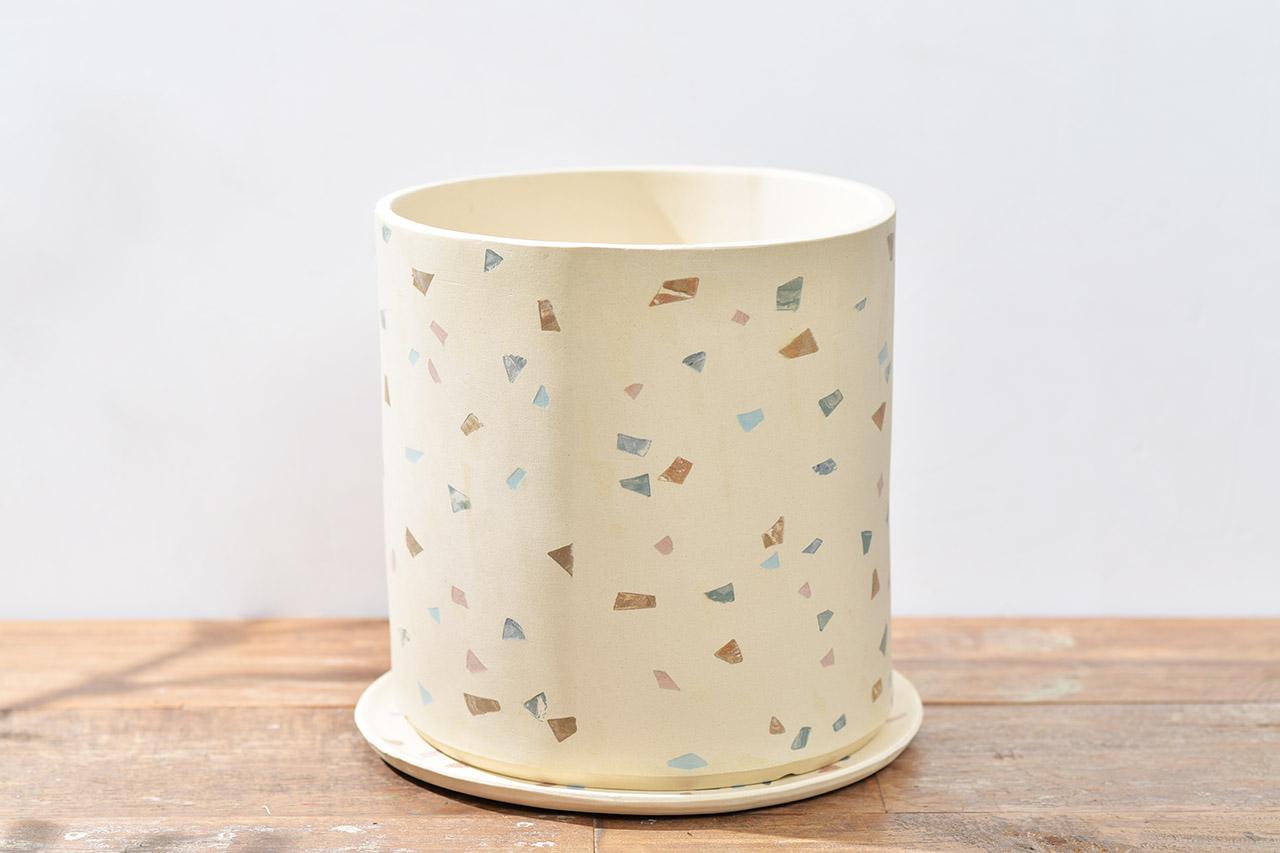 八寸台灣陶盆設計