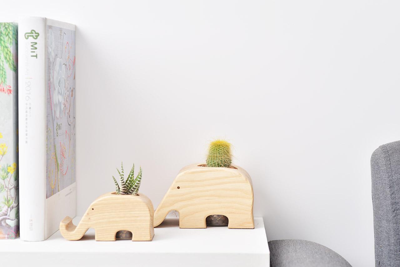 大象桌上盆栽