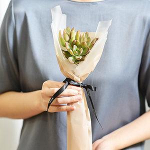 2021 七夕情人節花束-多肉植物加州夕陽花束1
