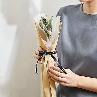 2021 七夕情人節花束-多肉植物月兔耳花束1