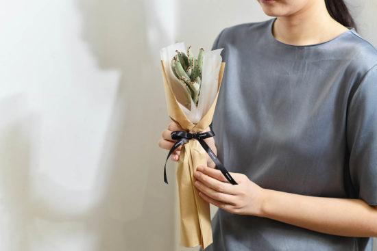 以陪伴為名植物為禮,2021 七夕情人節「植束」予你 2021 七夕情人節花束 多肉植物月兔耳花束4