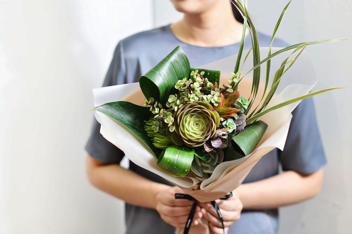 2021 七夕情人節花束-多肉植物花束1