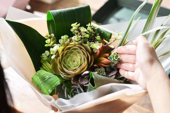 以陪伴為名植物為禮,2021 七夕情人節「植束」予你 2021 七夕情人節花束 多肉植物花束4 1