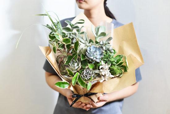 以陪伴為名植物為禮,2021 七夕情人節「植束」予你 2021 七夕情人節花束 多肉植物花束6