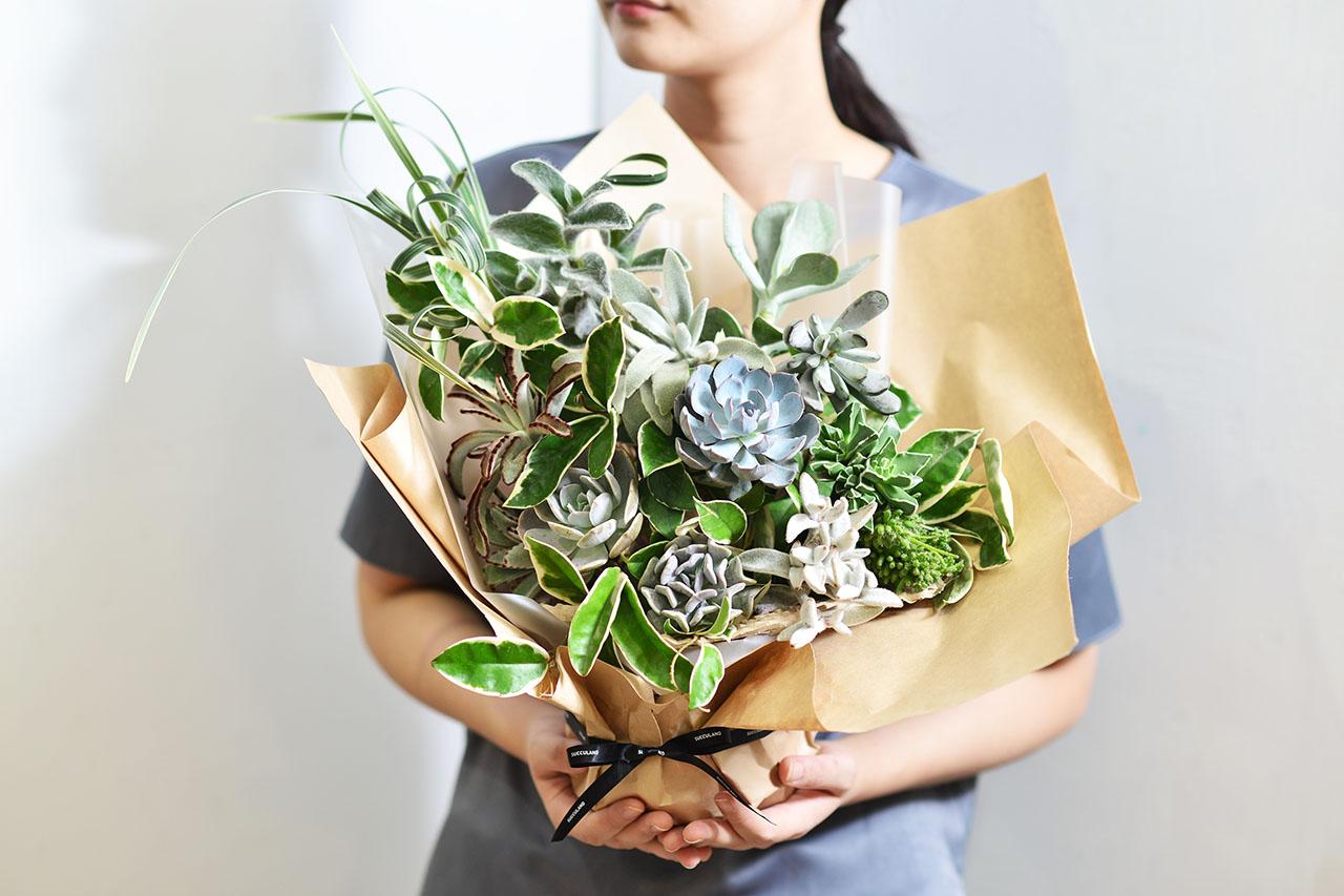 2021 七夕情人節花束-多肉植物花束多肉