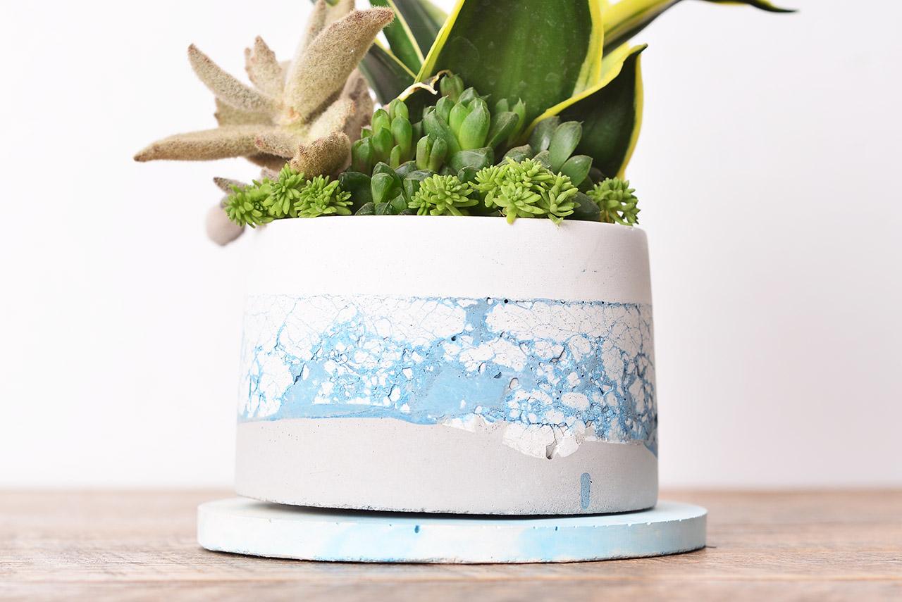 斑剝水泥盆器設計