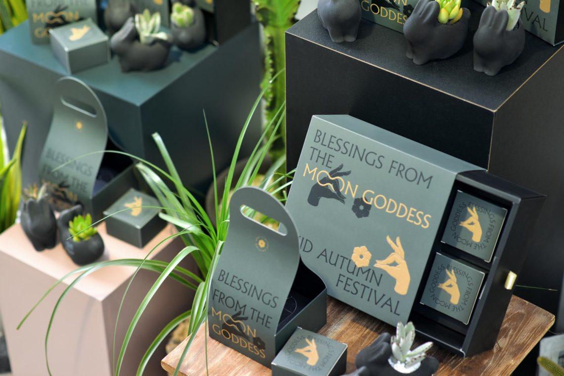 2021 中秋特色禮盒:嫦娥、植栽、百年老店 2021 中秋節門市陳列攝影 有肉SUCCULAND2